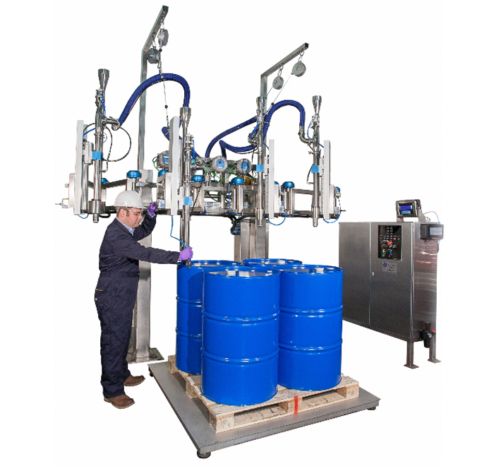 FT 400 filling machine for large drum barrel containers